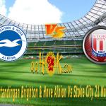 Prediksi Pertandingan Brighton & Hove Albion vs Stoke City 21 November 2017