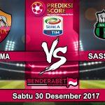 Prediksi Pertandingan AS Roma vs Sassuolo 30 Desember 2017