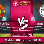 Prediksi Pertandingan Manchester United vs Derby Sabtu, 06 Januari 2018