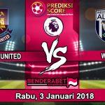 Prediksi Pertandingan West Ham United vs W.B.A Januari 2018