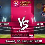 Prediksi Pertandingan Tottenham Hotspur vs West Ham United 5 Januari 2018