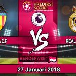 Prediksi Valencia vs Real Madrid 27 Januari 2018