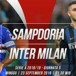 Prediksi Sampdoria vs Inter Milan 23 September 2018